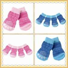 4 Cute Pet Socks Puppy Dog Indoor Soft Warm Cotton Anti-slip Booties - FREEPOST!