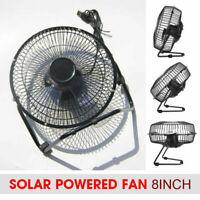 Portable Solar Powered Fan Mini Ventilator Greenhouse Pet Dog Chicken House Cool