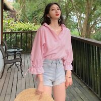 Floral T-Shirt New O Neck Fashion Tops Solid Pullover Casual Blouse Top Jumper
