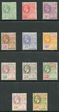 British Guiana SG271/82 1921 wmk Script Set M/mint