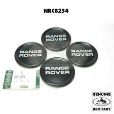 LAND ROVER RIM WHEEL BLACK CENTER CAP COVER SET x4 RANGE CLASSIC NRC8254 OEM