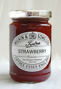 Solid Silver Fully Hallmarked Jam Jar Lid - Wilkin And Son Strawberry Jam
