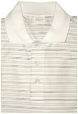 $600 NEW BRIONI WHITE TAN TAUPE MERCERIZED 3 BUTTON SLIM FIT POLO SHIRT EU 50 M