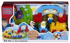 NEW MEGA BLOKS Play 'n Go Musical Train 6612 Farm Electronic Engine Track Cars
