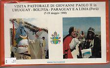 (V63) Viaggi di S.S.Giovanni Paolo II in Uruguay Bolivia Paraguay e A Lima Peru'