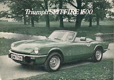 Triumph Spitfire 1500 1974-75 UK Market Foldout Sales Brochure