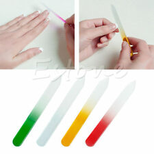 4x Crystal Glass Nail File Double Sided Manicure Pedicure Arts Tool Set Colorful