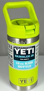 YETI Rambler Jr 12oz Kids Bottle with Straw Cap, CHARTREUSE Discontinued Color