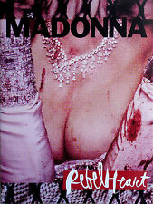 MADONNA * REBEL HEART TOUR PROGRAMME w/ KEYRING + FLYER * BN * LIVING FOR LOVE