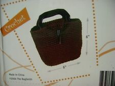"""The Bag Smith Little Brown Bag Purse Kit To Knit or Crochet 6"""" x 6"""" Nip Nos Dvd"""