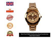 New Fossil Women's ES3815 Rose Gold Stainless-Steel Quartz Watch FAST DISPATCH
