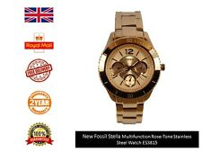 New Fossil Women's ES3815 Rose Gold Stainless-Steel Quartz Watch FAST DISPATCH