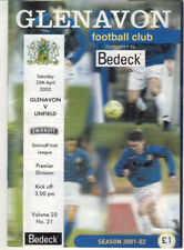 2001/02 Glenavon v Linfield - Irish League - 20th Apr - Vol 20 No 21