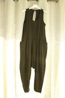 Italy Vintage Harems Jumpsuit Overall Gr.36 38 40 schwarz  blogger NEU