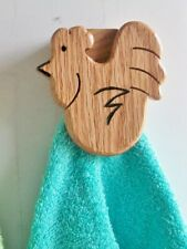 Roosters wall hook county decor kitchen self adhesive mount Magic towel holder