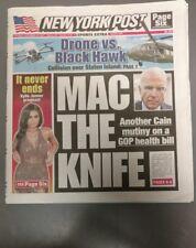NEW YORK POST Jenner Pregnant Drone vs Black Hawk Mac the Knife Melo JPP 9/23/17