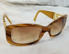 51104902807 Versace 4111-B Light Brown Tortoise Shell Sunglasses with Rhinestones on  sides