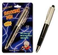 12 SHOCK PEN Shocking JOKE GAG MAGIC TRICK w/ Batteries