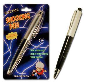 (10) SHOCKING SHOCK ELECTRIC PENS - Gag Prank Joke - Ball Point Pens that write!