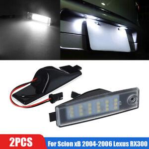 2Pcs OEM-Replace For Scion xB 2004-2006 Lexus RX300 LED License Plate Light