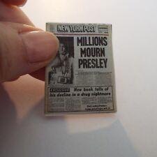 Miniature OPENING  'Elvis'   Newspapers  - Dollshouse 1:12 scale