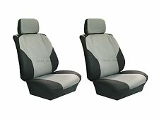 Polyester 4 Pcs Low Back Gray& Black Seat Covers for Auto Cars SUVS - Front Pair