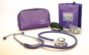 Purple Aneroid Blood Pressure Monitor - Sphygmomanometer & Purple Stethoscope