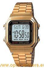 Montre CASIO A178W 2519 acier doré watch uhr