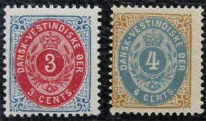 nystamps US Danish West Indies Stamp # 17,18 Mint OG H $30   L16x1072