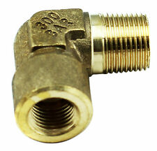 """Brass Elbow Fitting - 1/4"""" Female x 3/8"""" Male BSP 4350PSI, Tapered High Pressure"""