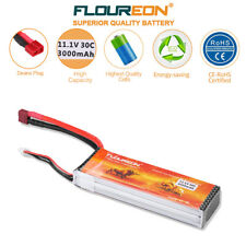 FLOUREON 11.1V 3000mAh 3S 30C RC Lipo Battery Deans for Helicopter Airplane Car