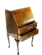 Antique Queen Anne Style Mahogany Bureau Writing Desk - FREE Shipping [PL4846]