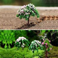 3x Mini Tree Miniature Dolls' House Garden Accessory Plant Fairy Ornament DIY H7