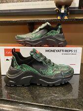 Moneyatti Shoes - REPS 11 - Green Snake Skin - Master P Italian Sneakers Size 11