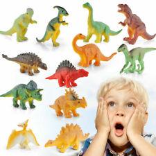 Realistic 12 PCS Plastic Lifelike Dinosaur Model Figure Animal Figurine Kid Toys
