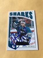 Brian Hayward Signed San Jose Sharks 2005 ITG Franchises Card