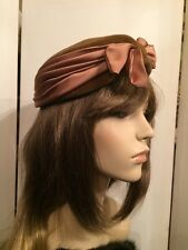 """Vintage 40's Individual Le Charme Creation Women's Felt Hat Body made Italy 20"""""""