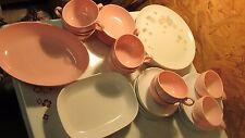 Vintage Melmac Pink & Floral Set- 42 pcs