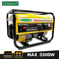 Gasoline Generator 3500w Pure Sine Wave Portable Single Phase 110v