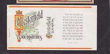 Anciennes  étiquette allumettes Royaume Uni  BN38089 Chesterfield