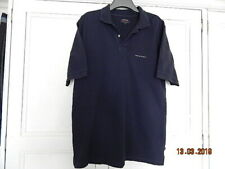 """COTTONFIELD MENS DARK BLUE STRETCHY 100% COTTON TOP WITH COLLAR SZ XL 46"""" CHEST"""