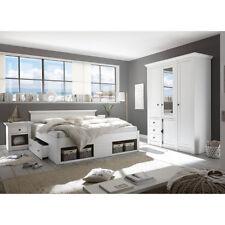 Schlafzimmer Set Westerland Kleiderschrank Bett Nachtkommode In Pinie Weiß