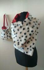 Cruella de ville shawl bag 101 dalmatian soft fur Halloweesn fancy dress red