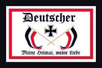 Deutscher Meine Heimat meine Liebe Blechschild Schild Tin Sign 20 x 30 cm CC0512