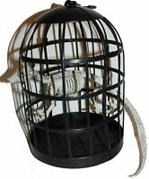 "8"" Skeletons in Cage Pet Halloween Decor, Scary grim grave yard, Sturdy reusable"