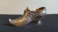 Fine Antique Lady's Shoe / Slipper - Elf Toe 800 /1000 German / Austrian Silver