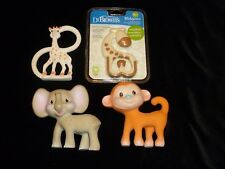 INFANTINO LATEX RUBBER BABY TEETHER LOT MONKEY GRAY ELEPHANT SOPHIE THE GIRAFFE