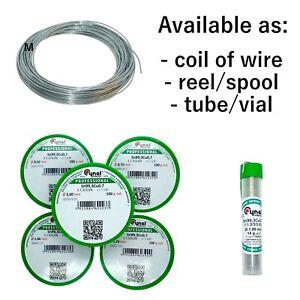 Lead Free Solder Wire - Ø 0.5 / 0.7 / 1.0 / 1.2 / 1.6 / 2.0 / 2.5 / 3.0 mm