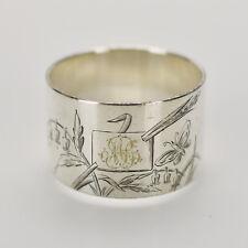 Antique Christofle Paris Napkin Ring Silverplated Art Nouveau Japonism