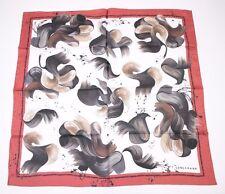 Longchamp Red Silk Paint Splash Scarf NEW
